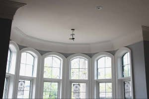 Plaster Coated Crown Molding Curved Wall